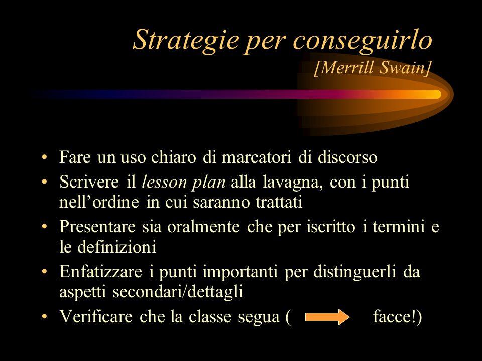 Strategie per conseguirlo [Merrill Swain]